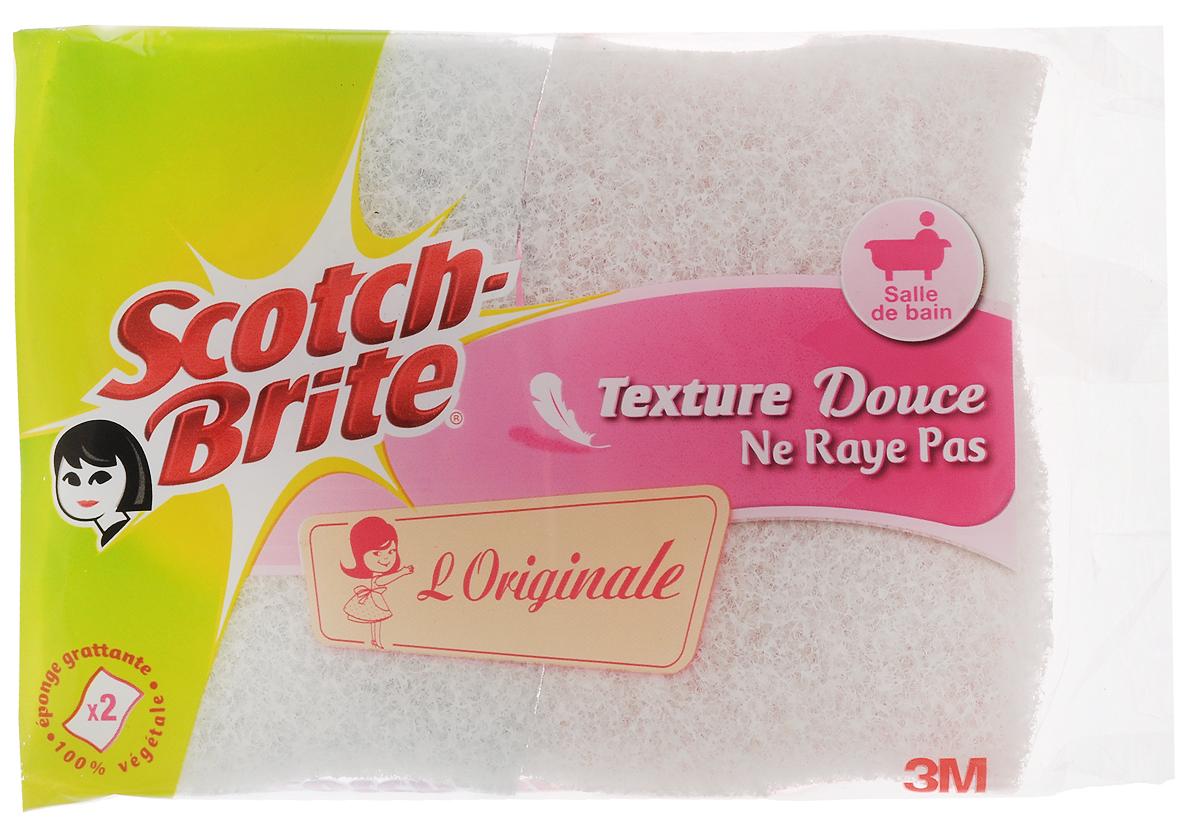 """Набор целлюлозных губок """"Scotch-Brite"""", для уборки в ванной, цвет: розовый, голубой, белый, 2 шт FN510076212_розовый, голубой"""