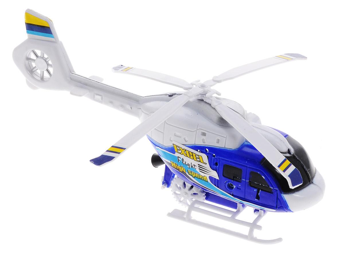 Junfa Toys Вертолет с пусковым устройством цвет белый синий
