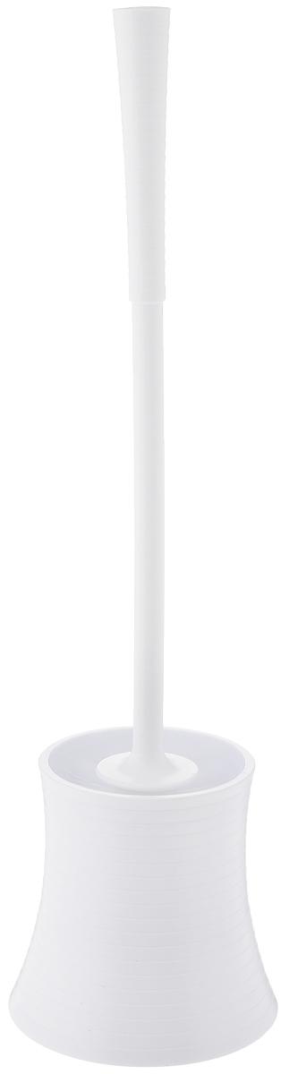 Ершик для унитаза Vanstore Style, с подставкой, цвет: белый19201Ершик для унитаза Vanstore Style выполнен из пластика и оснащен жестким ворсом. Подставка с устойчивым основанием не позволяет ершику опрокинуться. Ершик отлично чистит поверхность, а грязь с него легко смывается водой.Стильный дизайн изделия притягивает взгляд и прекрасно подойдет к интерьеру туалетной комнаты.Высота ершика: 42 см.Размер рабочей части ершика: 8 х 8 х 8,5 см.Размер подставки для ершика: 12 х 12 х 11,5 см.