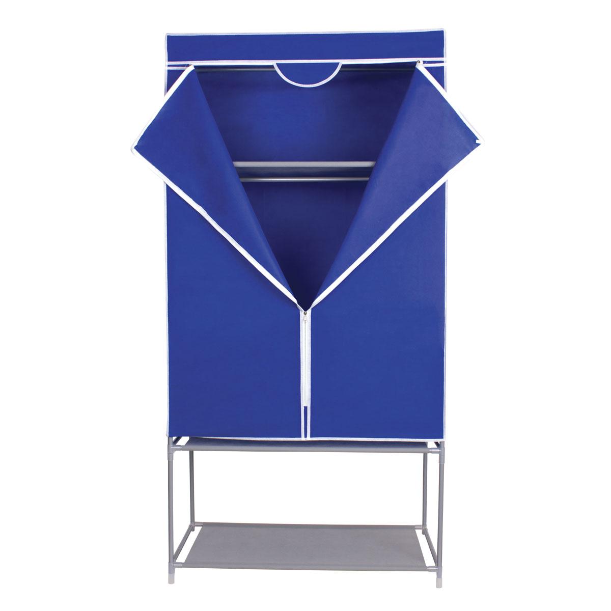 Гардероб для хранения одежды Miolla, цвет: синий, 175 х 87 х 46 см интмагазин пластик полку для обуви