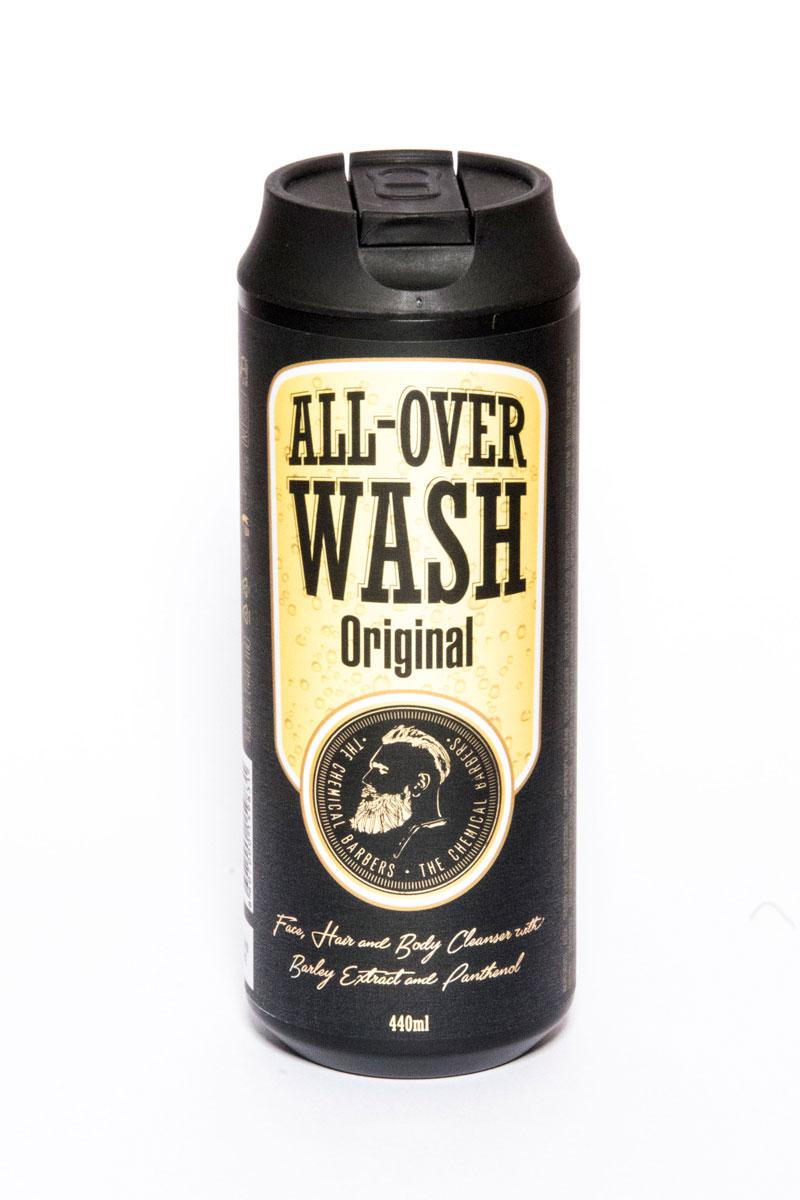 The Chemical Barbers Очищающее средство для лица, тела и волос All-Over Wash 440 мл11650010Очищающее средство для лица, тела и волос содержит натуральные экстракты ячменя и боярышника, а также пантенол. Ph-сбалансированный гель мягко очищает вашу кожу и волосы. Натуральные экстракты тимьяна и хмеля омолаживают кожу, а мелисса и алое питают ее, оставляя приятный свежий аромат.
