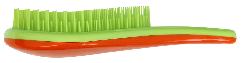 Щетка для распутывания волос Detangler салатовый/оранжевыйCDB 605Щетка специально создана для того, чтобы справляться с сильно запутавшимися волосами. Уникальная инновационная конструкция гибких зубчиков позволяет безвредно для волос устранить узелки и распутать пряди. Расчёсывает волосы быстро, легко и не требует использования дополнительных средств. Подходит для любого типа волос, включая тонкие, ломкие, кудрявые и жёсткие волосы. Наличие ручки делает удобным расчесывание, а слегка изогнутая форма щетки в виде капли отлично лежит в руке и не выскальзывает, что особенно важно при расчесывании влажных волос. Уникальные зубчики щетки Clarette Detangler имеют повышенную гибкость и мягко преодолевают любое препятствие в волосах. Зубчики у расчески очень короткие и легко гнутся. При расчесывании они пропускают сквозь себя пряди любой длины и фактуры, не цепляя их и не «скатывая» в колтуны. Высококачественный упругий пластик, из которого сделаны зубчики расчески, не царапает кожу головы, а мягко воздействует на нее, обеспечивая...