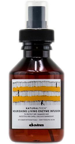 Davines Питательный оживляющий флюид New Natural Tech Nourishing Living Enzime Infusion, 100 мл71159Питательный оживляющий энзимный раствор несмываемый является флюидом, который защищает и кондиционирует поврежденные и сухие волосы. Во флюиде содержится фитоактив винограда, богатый полифенолами, а также энзим Superoxide Dismutase, основной функцией которого является борьба со свободными радикалами кислорода. Обе составляющие являются мощнейшими антиоксидантами. В состав флюида включены эфирные масла горького апельсина, мандарина и иланг-иланга, активно питающие ваши волосы. рH 5,5.