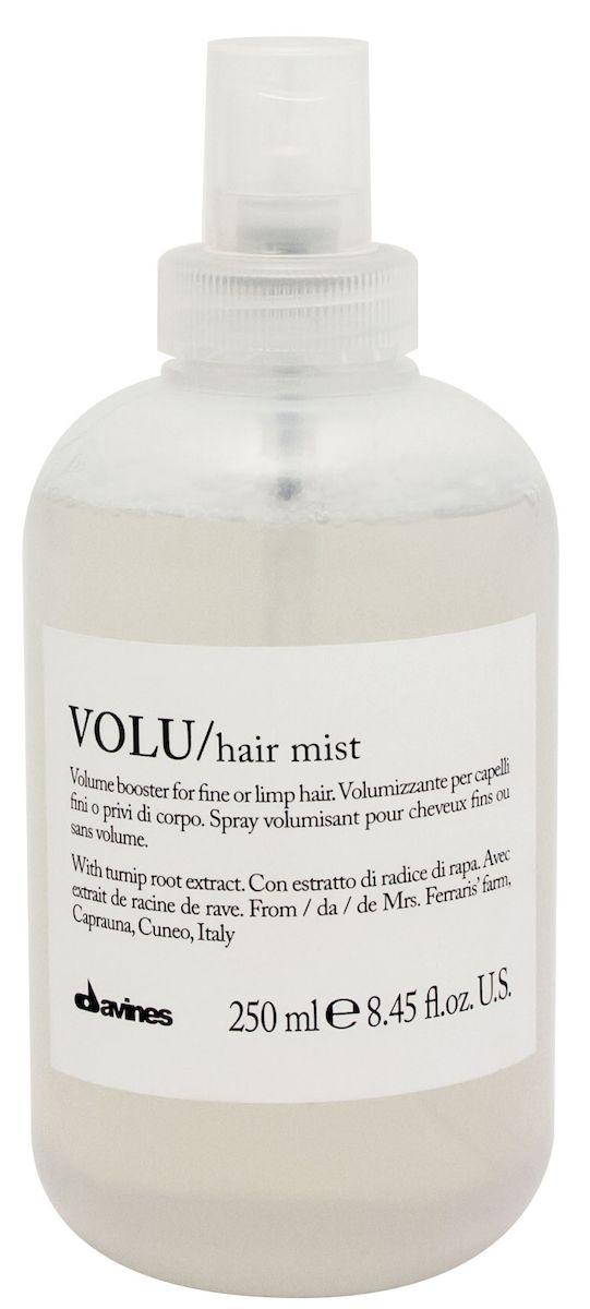 Davines Несмываемый спрей для придания объема волосам Essential Haircare New Volu Hair Mist, 250 мл75055Специальная серия для длинных или поврежденных волос. Активный экстракт капраунской репы восстанавливает и питает локоны. Богатая важными аминокислотами формула защищает локоны. Серин и глютаминовая кислота обеспечивают благоприятное воздействие на кудри, увеличивая их объем. Фосфор, железо, кальций и набор витаминов защищают волосы, придают им плотность. Не нагружает волосы.
