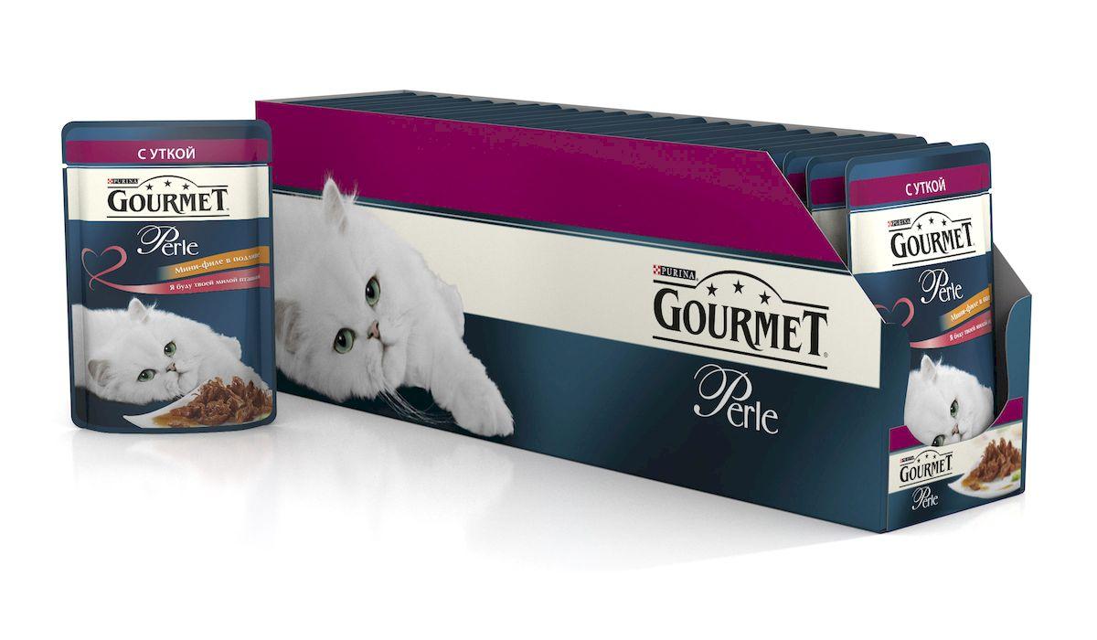 Консервы для кошек Gourmet Perle, мини-филе с уткой, 85 г, 24 шт54155_24