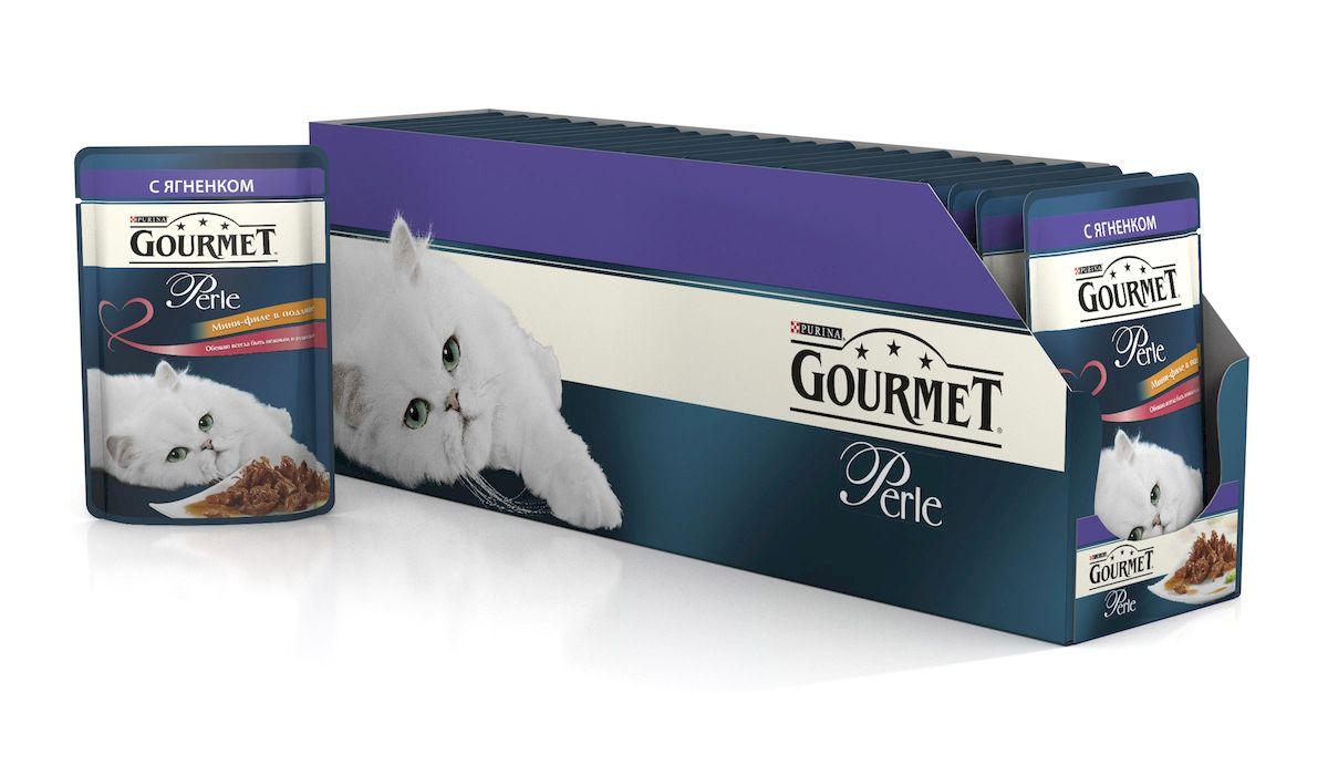 Консервы для кошек Gourmet Perle, мини-филе с ягненком, 85 г, 24 шт54058_24Ваша кошка - настоящий гурман, и порой ей сложно угодить. Корм Gourmet Perle - это изысканное угощение с превосходным вкусом, которым ваша кошка будет наслаждаться каждый день. Ваш гурман оценит нежнейшие кусочки с мясом или рыбой, приготовленные в аппетитном соусе. Корм Gourmet Perle - изысканное угощение на каждый день. Рекомендации по кормлению: Суточная норма: 3-4 пакетика в день для взрослой кошки (средний вес 4 кг), в два приема. Данная суточная норма рассчитана для умеренно активных взрослых кошек, живущих в условиях нормальной температуры окружающей среды. В зависимости от индивидуальных потребностей кошки норма кормления может быть скорректирована для поддержания нормального веса вашей кошки. Подавайте корм комнатной температуры. Следите, чтобы у вашей кошки всегда была чистая, свежая питьевая вода. Условия хранения: Закрытый пакетик хранить в сухом прохладном месте. После открытия продукт хранить в холодильнике...