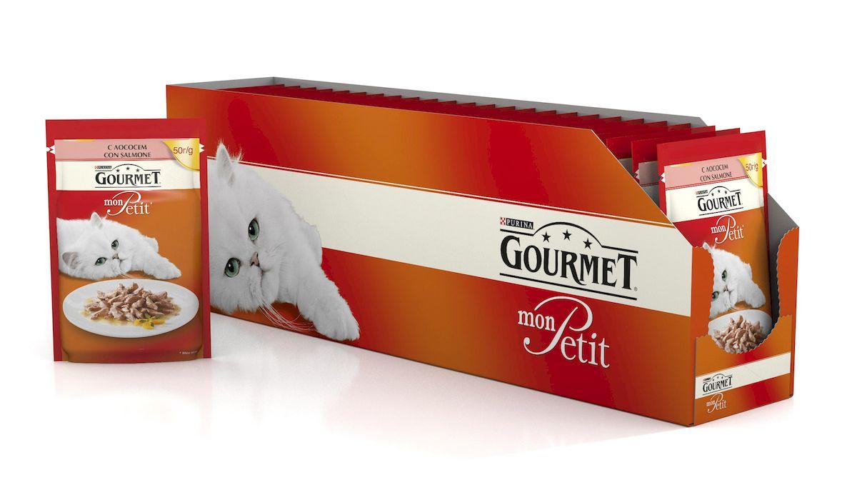 Консервы Gourmet Mon Petit, для взрослых кошек, с лососем, 50 г, 24 шт60456_24