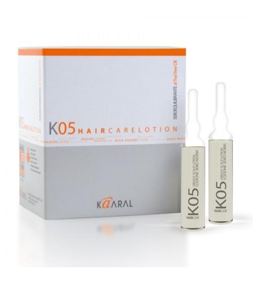 Kaaral Лосьон для восстановления баланса секреции сальных желез К05 Lozione Seboequilibrante, 12x10 мл1057Экстракт масла чайного дерева в сочетании с экстрактом крапивы идеально регулирует выработку кожного сала.