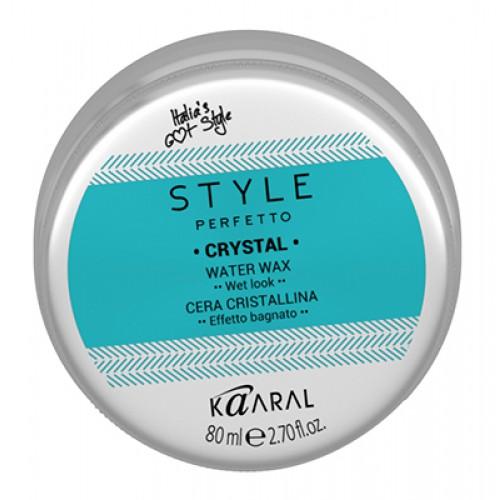 Kaaral Воск для волос с блеском Style Perfetto Crystal Water Wax, 80 млMP59.4DВоск на водной основе поможет сформировать детали образа, не утяжеляя их, не оставляя налета и липкости. Сформированная укладка с блеском. Содержит УФ-Б фильтр.