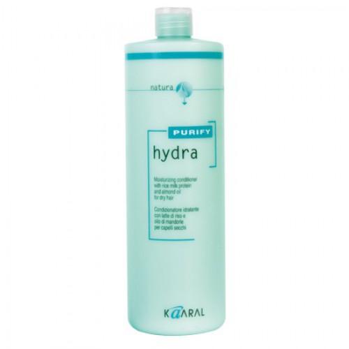 Kaaral Увлажняющий кондиционер для сухих волос Purify Hydra Conditioner, 1000 млkaaral1204Специальный SPA кондиционер для сухих и пористых волос на основе экстрактов ромашки, масла семян сладкого миндаля, обогащённый протеинами риса. Активно увлажняет и питает пористую кутикулу, восстанавливая нарушение целостности чешуйчатого слоя. Увлажняющие компоненты не содержат силиконовых комплексов, что делает использование кондиционера безопасным. Придает волосам необычайную эластичность и здоровый вид.