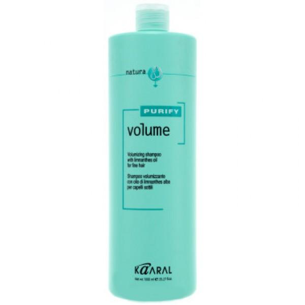 Kaaral Шампунь-объем для тонких волос Purify Volume Shampoo, 1000 млFS-00897Нейтральный PH шампунь, на катионовой основе. Обеспечивает деликатный уход. Обладает эффектом двойного действия. Комбинация масла семян пенника лугового, состав которого обогащен жирными кислотами и гидролизованного коллагена, способствует восстановлению эластичности волос и придает им дополнительный объем, силу и блеск. Не содержит силикон. Не утяжеляет волосы.