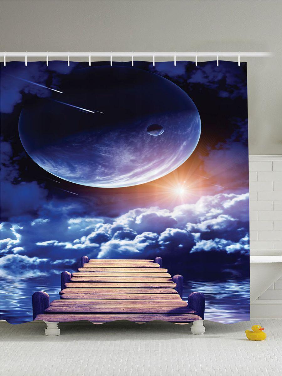 Штора для ванной комнаты Magic Lady Дорога в облака, 180 х 200 смшв_10038Штора Magic Lady Дорога в облака, изготовленная из высококачественного сатена (полиэстер 100%), отлично дополнит любой интерьер ванной комнаты. При изготовлении используются специальные гипоаллергенные чернила для прямой печати по ткани, безопасные для человека. В комплекте: 1 штора, 12 крючков. Обращаем ваше внимание, фактический цвет изделия может незначительно отличаться от представленного на фото.