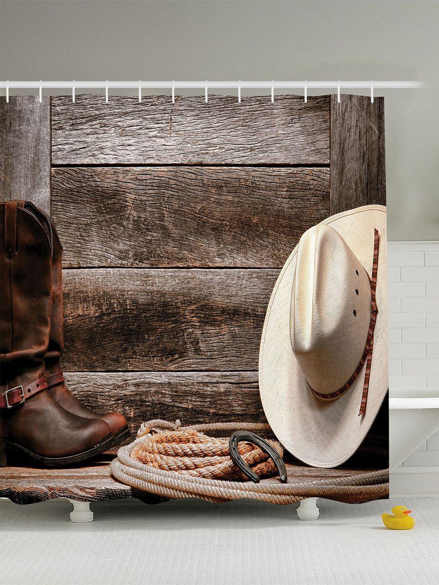 Штора для ванной комнаты Magic Lady Дикий Запад, 180 х 200 смшв_10232Штора Magic Lady Дикий Запад, изготовленная из высококачественного сатена (полиэстер 100%), отлично дополнит любой интерьер ванной комнаты. При изготовлении используются специальные гипоаллергенные чернила для прямой печати по ткани, безопасные для человека. В комплекте: 1 штора, 12 крючков. Обращаем ваше внимание, фактический цвет изделия может незначительно отличаться от представленного на фото.