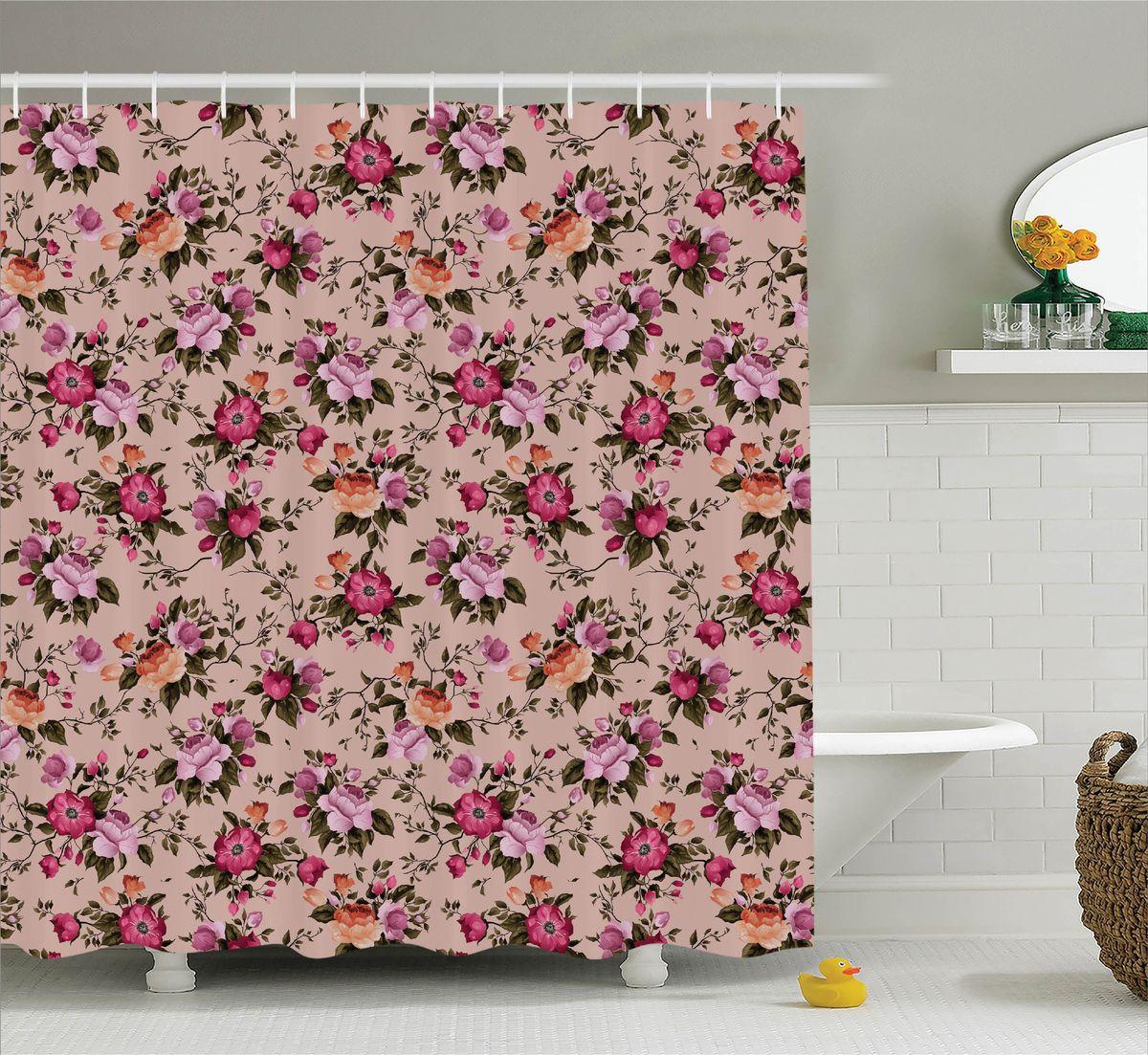 Штора для ванной комнаты Magic Lady Разноцветные розы в стиле ретро, 180 х 200 смшв_11413Штора Magic Lady Разноцветные розы в стиле ретро, изготовленная из высококачественного сатена (полиэстер 100%), отлично дополнит любой интерьер ванной комнаты. При изготовлении используются специальные гипоаллергенные чернила для прямой печати по ткани, безопасные для человека. В комплекте: 1 штора, 12 крючков. Обращаем ваше внимание, фактический цвет изделия может незначительно отличаться от представленного на фото.