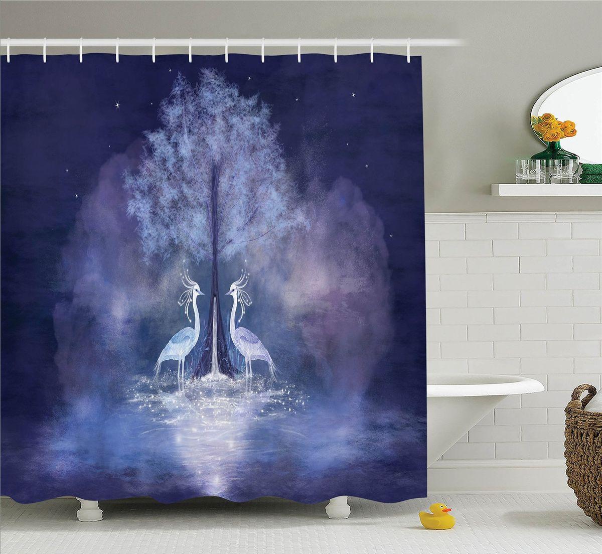 Штора для ванной комнаты Magic Lady Волшебные птицы, 180 х 200 смшв_15822Штора Magic Lady Волшебные птицы, изготовленная из высококачественного сатена (полиэстер 100%), отлично дополнит любой интерьер ванной комнаты. При изготовлении используются специальные гипоаллергенные чернила для прямой печати по ткани, безопасные для человека. В комплекте: 1 штора, 12 крючков. Обращаем ваше внимание, фактический цвет изделия может незначительно отличаться от представленного на фото.