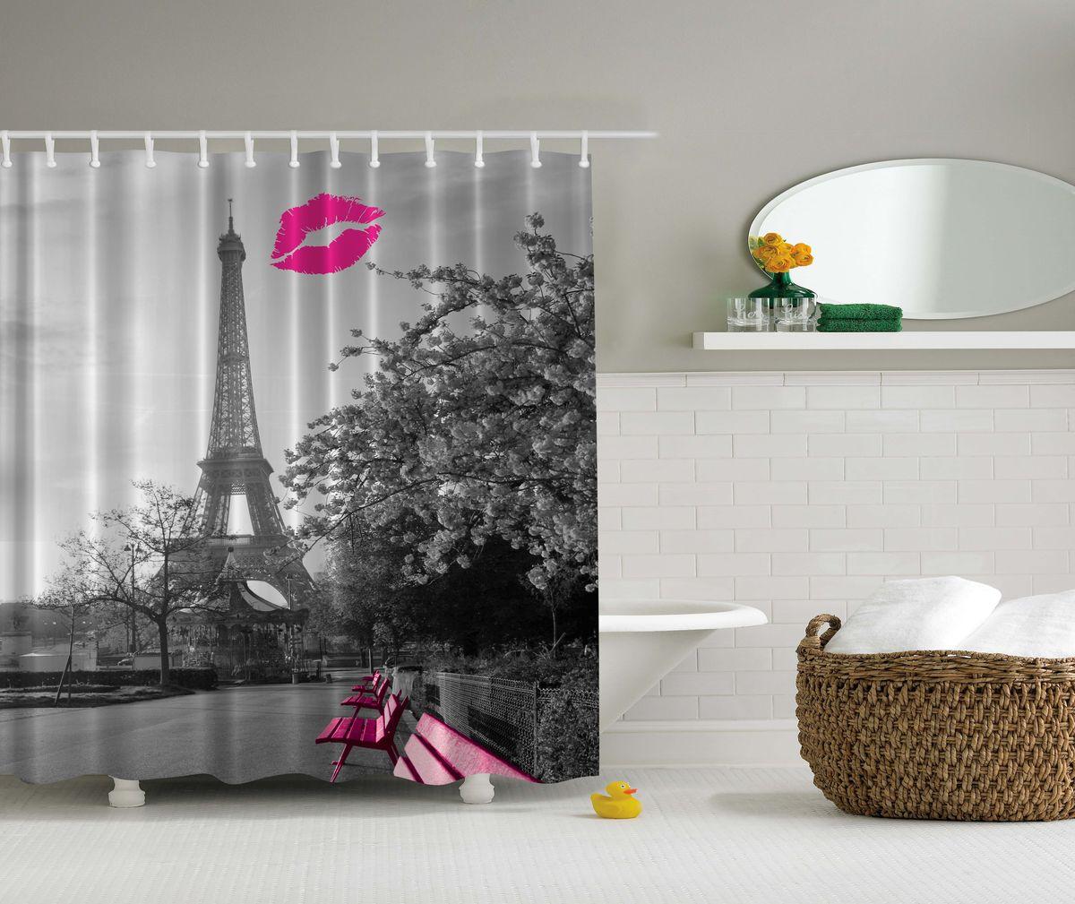 Штора для ванной комнаты Magic Lady Поцелуй в Париже, 180 х 200 смшв_4419Штора Magic Lady Поцелуй в Париже, изготовленная из высококачественного сатена (полиэстер 100%), отлично дополнит любой интерьер ванной комнаты. При изготовлении используются специальные гипоаллергенные чернила для прямой печати по ткани, безопасные для человека. В комплекте: 1 штора, 12 крючков. Обращаем ваше внимание, фактический цвет изделия может незначительно отличаться от представленного на фото.