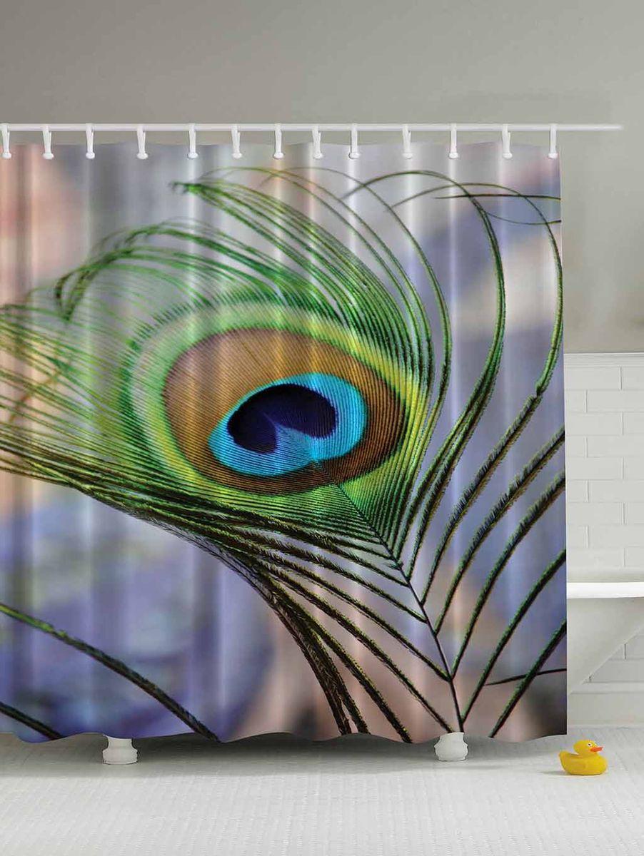 Штора для ванной комнаты Magic Lady Перо павлина, 180 х 200 смшв_4474Штора Magic Lady Перо павлина, изготовленная из высококачественного сатена (полиэстер 100%), отлично дополнит любой интерьер ванной комнаты. При изготовлении используются специальные гипоаллергенные чернила для прямой печати по ткани, безопасные для человека. В комплекте: 1 штора, 12 крючков. Обращаем ваше внимание, фактический цвет изделия может незначительно отличаться от представленного на фото.