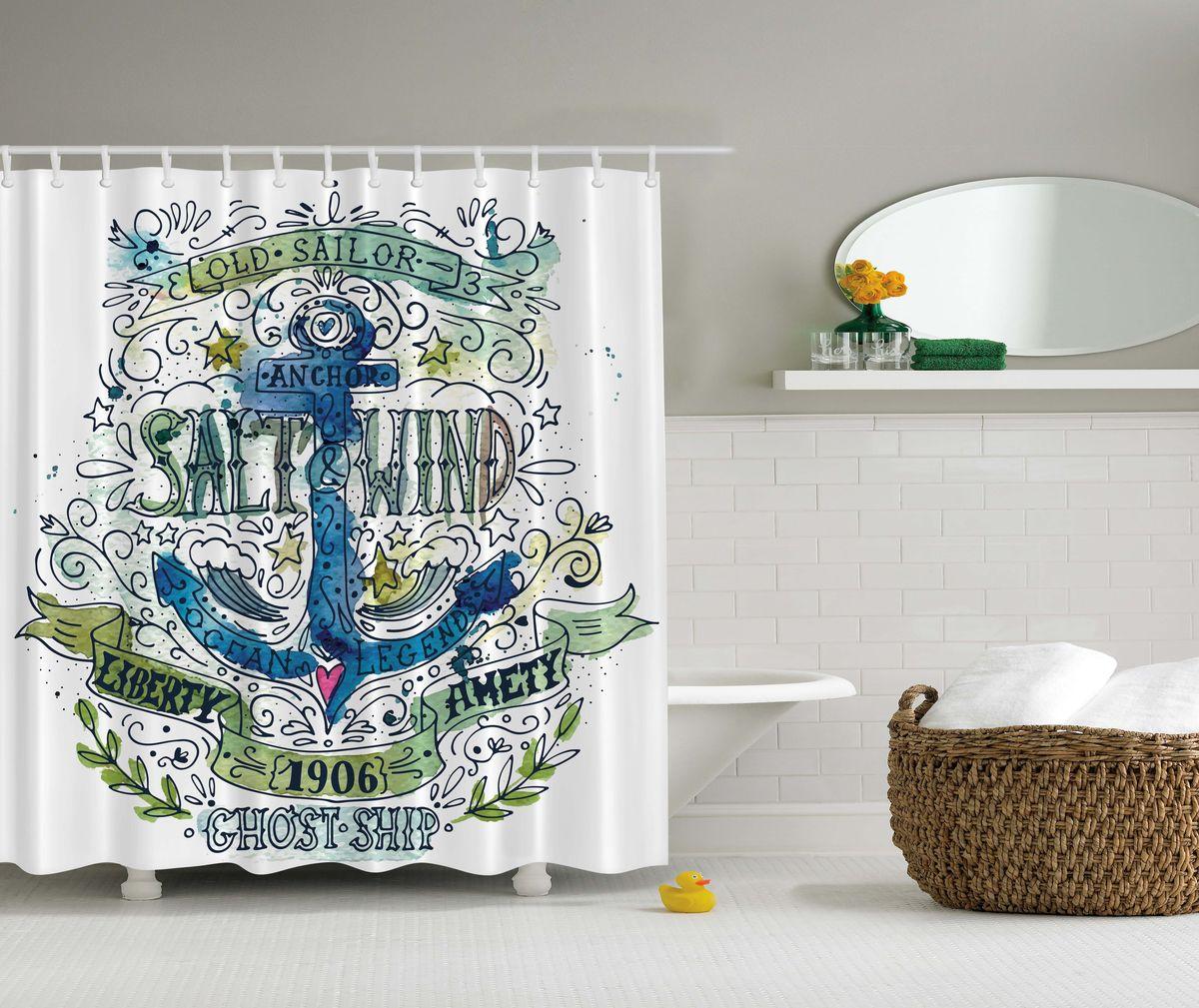 Штора для ванной комнаты Magic Lady Якорь для моряка, 180 х 200 смшв_4720Штора Magic Lady Якорь для моряка, изготовленная из высококачественного сатена (полиэстер 100%), отлично дополнит любой интерьер ванной комнаты. При изготовлении используются специальные гипоаллергенные чернила для прямой печати по ткани, безопасные для человека. В комплекте: 1 штора, 12 крючков. Обращаем ваше внимание, фактический цвет изделия может незначительно отличаться от представленного на фото.