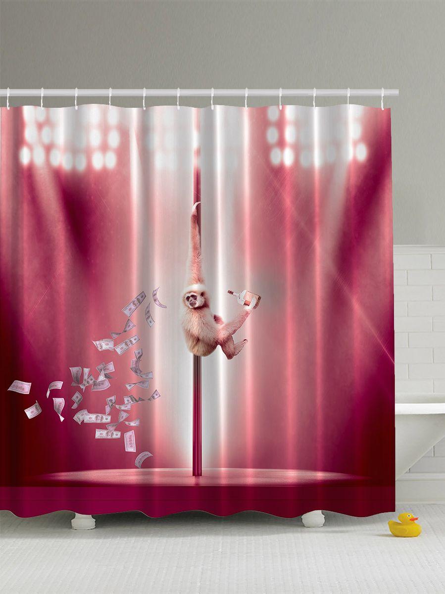Штора для ванной комнаты Magic Lady Обезьяна, сцена, деньги, алкоголь и шест, 180 х 200 смшв_5279Штора Magic Lady Обезьяна, сцена, деньги, алкоголь и шест, изготовленная из высококачественного сатена (полиэстер 100%), отлично дополнит любой интерьер ванной комнаты. При изготовлении используются специальные гипоаллергенные чернила для прямой печати по ткани, безопасные для человека. В комплекте: 1 штора, 12 крючков. Обращаем ваше внимание, фактический цвет изделия может незначительно отличаться от представленного на фото.