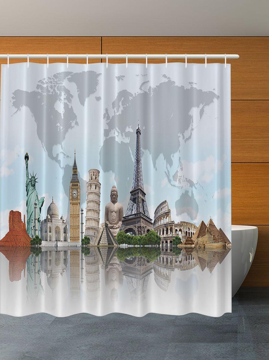 Штора для ванной комнаты Magic Lady Чудеса света, 180 х 200 смшв_7101Штора Magic Lady Чудеса света, изготовленная из высококачественного сатена (полиэстер 100%), отлично дополнит любой интерьер ванной комнаты. При изготовлении используются специальные гипоаллергенные чернила для прямой печати по ткани, безопасные для человека. В комплекте: 1 штора, 12 крючков. Обращаем ваше внимание, фактический цвет изделия может незначительно отличаться от представленного на фото.