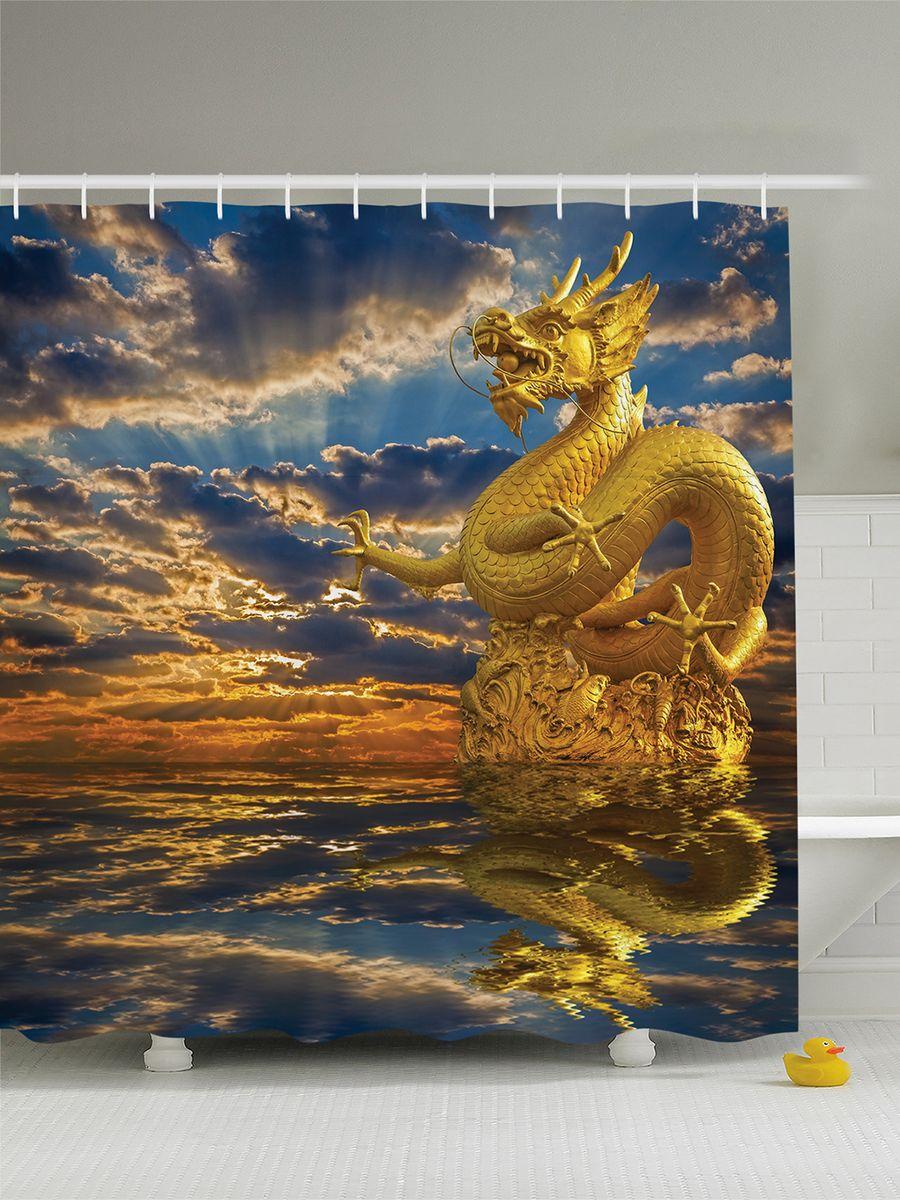 Штора для ванной комнаты Magic Lady Китайский дракон, 180 х 200 смшв_7338Штора Magic Lady Китайский дракон, изготовленная из высококачественного сатена (полиэстер 100%), отлично дополнит любой интерьер ванной комнаты. При изготовлении используются специальные гипоаллергенные чернила для прямой печати по ткани, безопасные для человека. В комплекте: 1 штора, 12 крючков. Обращаем ваше внимание, фактический цвет изделия может незначительно отличаться от представленного на фото.