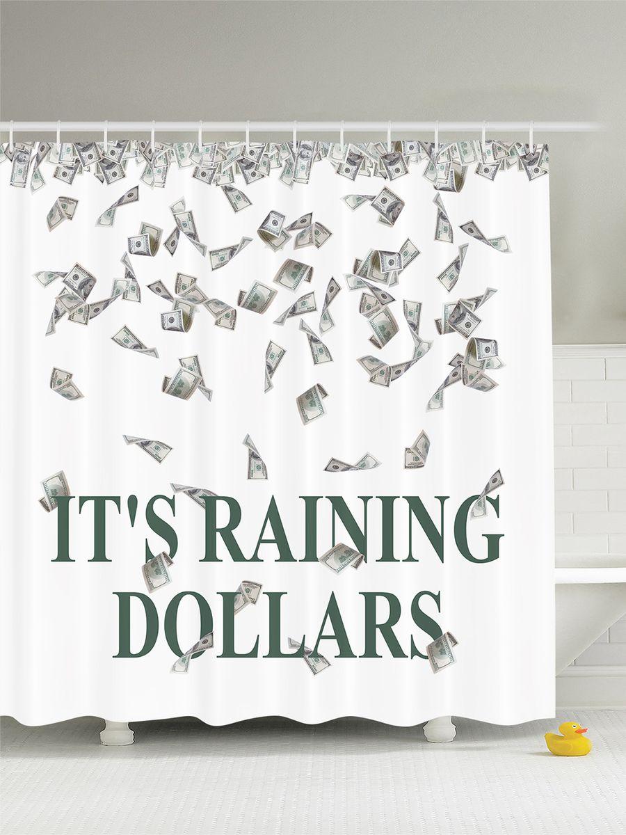Штора для ванной комнаты Magic Lady Its raining dollars, 180 х 200 см391602Штора Magic Lady Its raining dollars, изготовленная из высококачественного сатена (полиэстер 100%), отлично дополнит любой интерьер ванной комнаты. При изготовлении используются специальные гипоаллергенные чернила для прямой печати по ткани, безопасные для человека.В комплекте: 1 штора, 12 крючков. Обращаем ваше внимание, фактический цвет изделия может незначительно отличаться от представленного на фото.