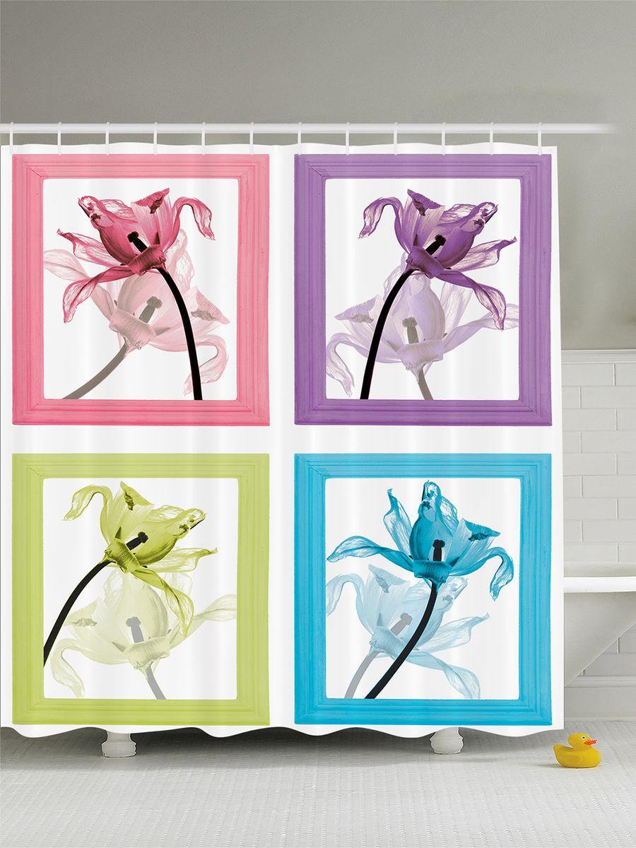 Штора для ванной комнаты Magic Lady Декоративные цветы в рамках, 180 х 200 смшв_8180Штора Magic Lady Декоративные цветы в рамках, изготовленная из высококачественного сатена (полиэстер 100%), отлично дополнит любой интерьер ванной комнаты. При изготовлении используются специальные гипоаллергенные чернила для прямой печати по ткани, безопасные для человека. В комплекте: 1 штора, 12 крючков. Обращаем ваше внимание, фактический цвет изделия может незначительно отличаться от представленного на фото.