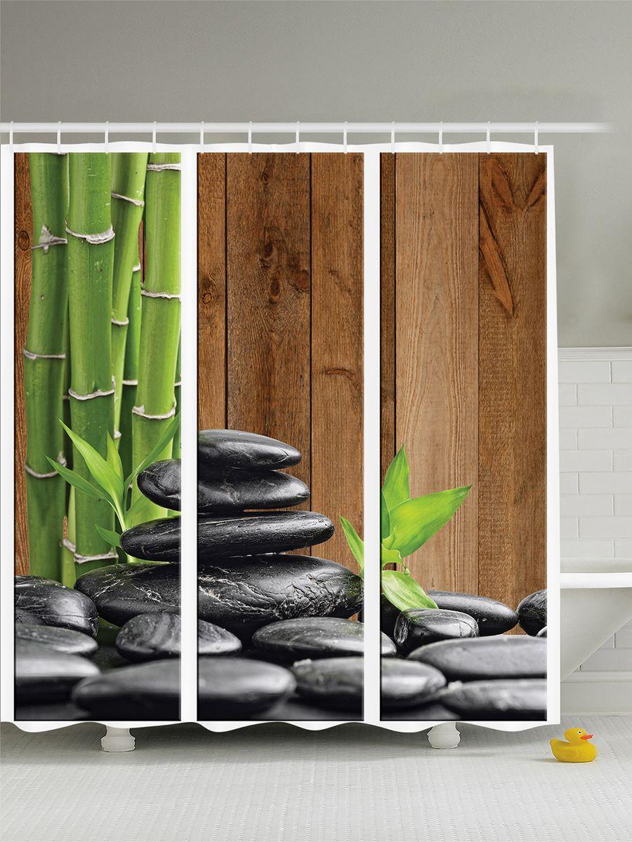 Штора для ванной комнаты Magic Lady Стебли бамбука и камни, 180 х 200 смшв_8320Штора Magic Lady Стебли бамбука и камни, изготовленная из высококачественного сатена (полиэстер 100%), отлично дополнит любой интерьер ванной комнаты. При изготовлении используются специальные гипоаллергенные чернила для прямой печати по ткани, безопасные для человека. В комплекте: 1 штора, 12 крючков. Обращаем ваше внимание, фактический цвет изделия может незначительно отличаться от представленного на фото.