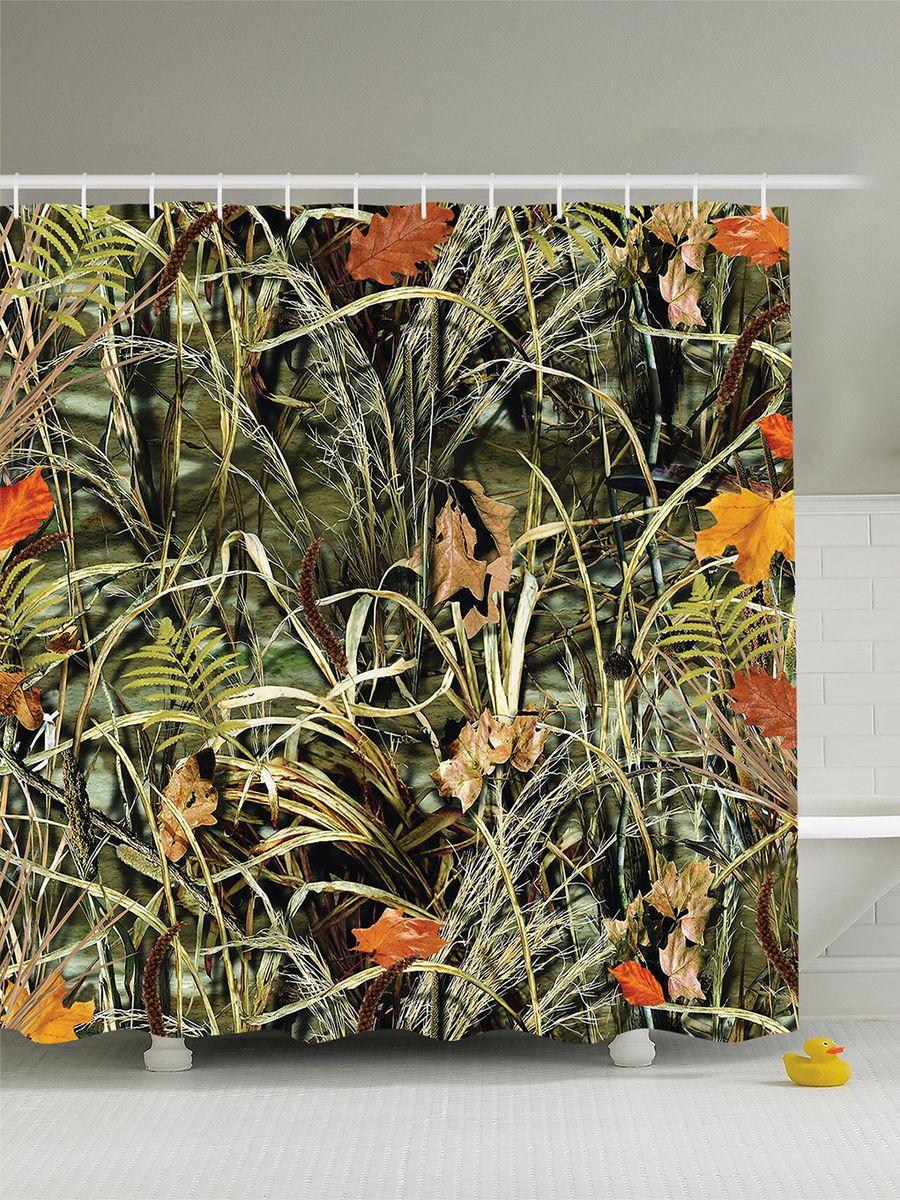 Штора для ванной комнаты Magic Lady Осеняя трава, опавшие листья, 180 х 200 смшв_8342Штора Magic Lady Осеняя трава, опавшие листья, изготовленная из высококачественного сатена (полиэстер 100%), отлично дополнит любой интерьер ванной комнаты. При изготовлении используются специальные гипоаллергенные чернила для прямой печати по ткани, безопасные для человека. В комплекте: 1 штора, 12 крючков. Обращаем ваше внимание, фактический цвет изделия может незначительно отличаться от представленного на фото.