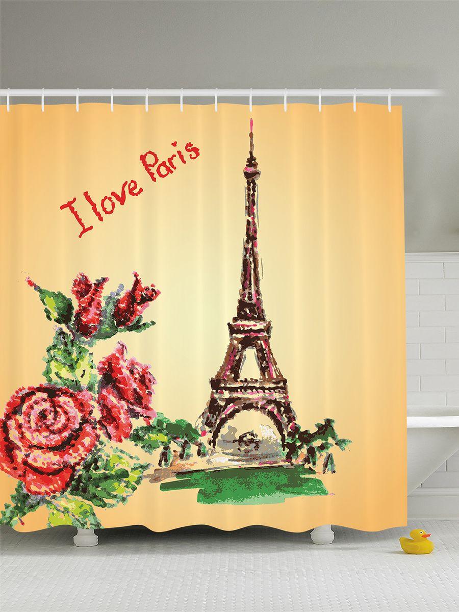 Штора для ванной комнаты Magic Lady Розы и Эйфелева башня, 180 х 200 смшв_8693Штора Magic Lady Розы и Эйфелева башня, изготовленная из высококачественного сатена (полиэстер 100%), отлично дополнит любой интерьер ванной комнаты. При изготовлении используются специальные гипоаллергенные чернила для прямой печати по ткани, безопасные для человека. В комплекте: 1 штора, 12 крючков. Обращаем ваше внимание, фактический цвет изделия может незначительно отличаться от представленного на фото.