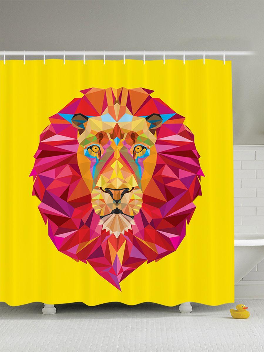 Штора для ванной комнаты Magic Lady Лев с розовой гривой, 180 х 200 смшв_8881Штора Magic Lady Лев с розовой гривой, изготовленная из высококачественного сатена (полиэстер 100%), отлично дополнит любой интерьер ванной комнаты. При изготовлении используются специальные гипоаллергенные чернила для прямой печати по ткани, безопасные для человека. В комплекте: 1 штора, 12 крючков. Обращаем ваше внимание, фактический цвет изделия может незначительно отличаться от представленного на фото.