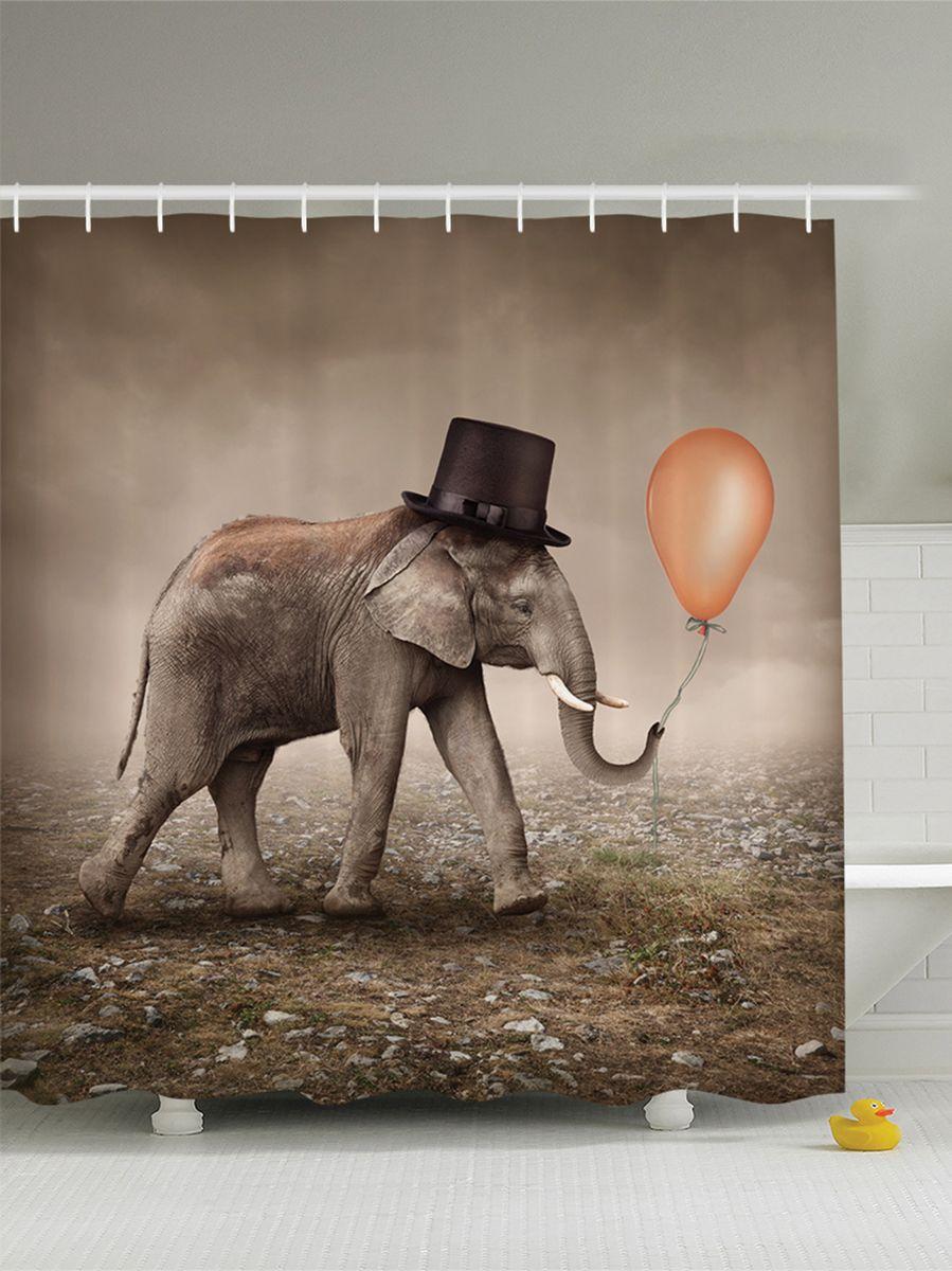 Штора для ванной комнаты Magic Lady Слоник в цилиндре, 180 х 200 смшв_8891Штора Magic Lady Слоник в цилиндре, изготовленная из высококачественного сатена (полиэстер 100%), отлично дополнит любой интерьер ванной комнаты. При изготовлении используются специальные гипоаллергенные чернила для прямой печати по ткани, безопасные для человека. В комплекте: 1 штора, 12 крючков. Обращаем ваше внимание, фактический цвет изделия может незначительно отличаться от представленного на фото.