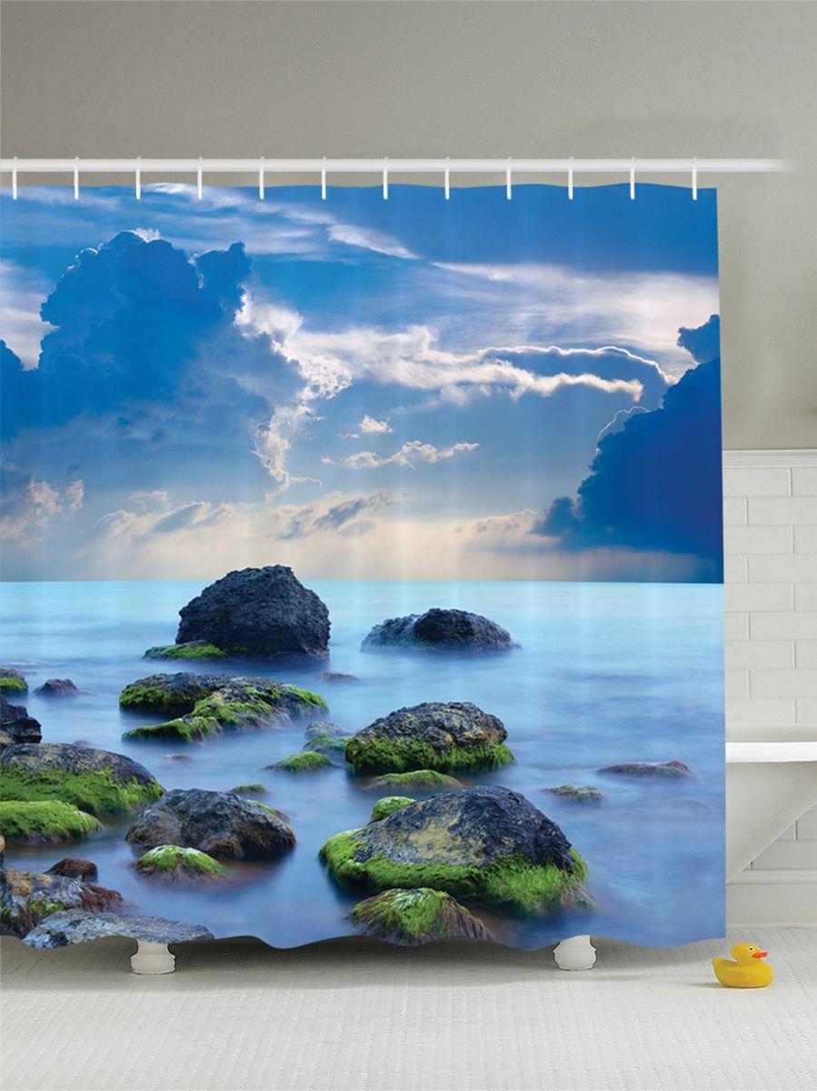 Штора для ванной комнаты Magic Lady Мшистые камни, 180 х 200 смшв_8942Штора Magic Lady Мшистые камни, изготовленная из высококачественного сатена (полиэстер 100%), отлично дополнит любой интерьер ванной комнаты. При изготовлении используются специальные гипоаллергенные чернила для прямой печати по ткани, безопасные для человека. В комплекте: 1 штора, 12 крючков. Обращаем ваше внимание, фактический цвет изделия может незначительно отличаться от представленного на фото.