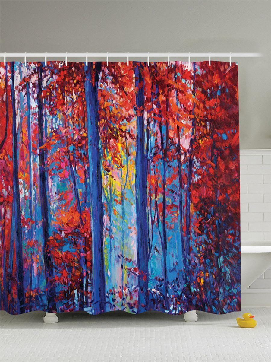 Штора для ванной комнаты Magic Lady Картина. Осенний лес на холсте, 180 х 200 смшв_9253Штора Magic Lady Картина. Осенний лес на холсте, изготовленная из высококачественного сатена (полиэстер 100%), отлично дополнит любой интерьер ванной комнаты. При изготовлении используются специальные гипоаллергенные чернила для прямой печати по ткани, безопасные для человека. В комплекте: 1 штора, 12 крючков. Обращаем ваше внимание, фактический цвет изделия может незначительно отличаться от представленного на фото.