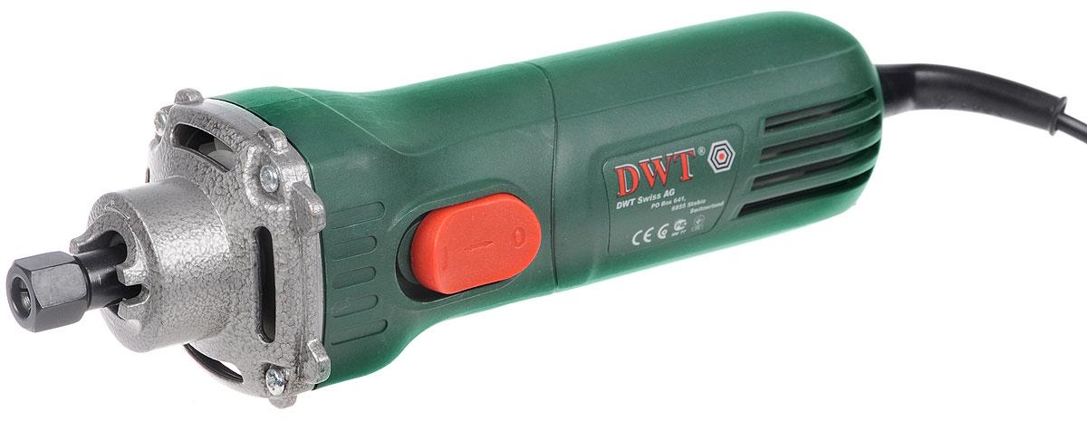 Машина шлифовальная DWT GS06-27, прямаяGS06-27Прямая шлифовальная машина DWT GS06-27 предназначена для выполнения различных шлифовальных работ (например, удаления заусенцев и острых кромок) при помощи корундовых шлифовальных принадлежностей. Эргономичный дизайн, позволяет удерживать электроинструмент одной рукой во время работы. Имеется блокировка кнопки включения. В комплект входят дополнительная ручка, 2 шлифовальных камня, доводочный брусок, рожковый ключ, штифт, инструкция по эксплуатации и гарантийный талон. Выходная мощность: 300 Вт. Внутренний диаметр шпинделя: 10 мм. Внутренний диаметр цангового зажима: 6 мм. Звуковое давление: 83 dB. Акустическая мощность: 94 dB. Вибрация: 2,25 м/с2.