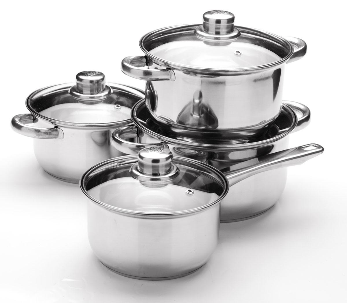 Набор посуды Mayer & Boch, 8 предметов. 25755257551,4+1,4+2+2,9л