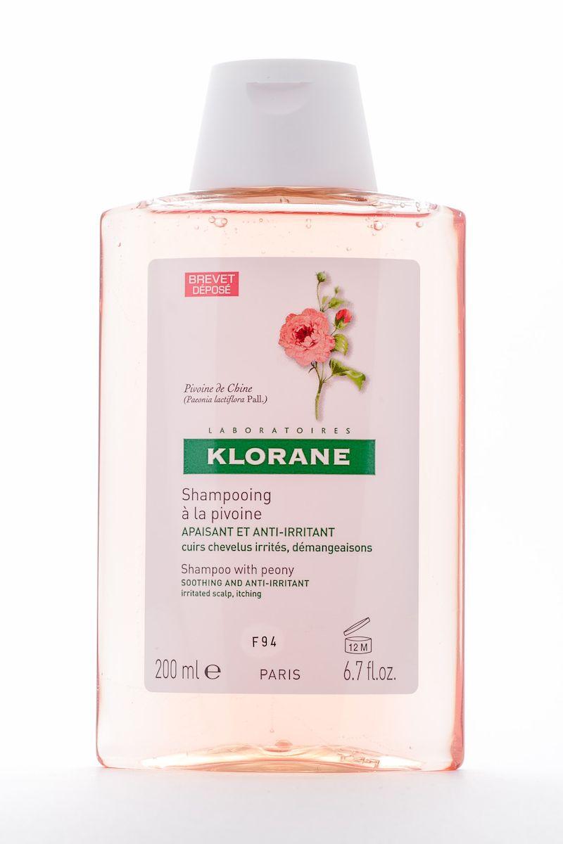 Klorane Irritated Scalp Шампунь с экстрактом пиона, успокаивающий, 200 мл3078Мягко очищает чувствительную кожу головы. Облегчает расчесывание, придает волосам объем и блеск. Успокаивает раздражение и зуд, сопровождающие перхоть. Рекомендуется чередовать с лечебными шампунями от перхоти.