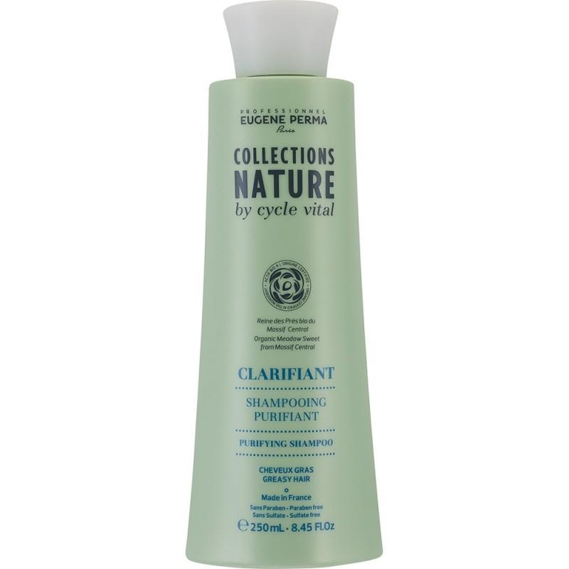 Eugene Perma Cycle Vital Nature Shampooing Purifiant - Шампунь для глубокого очищения волос 250 млFS-00103Очищает кожу головы и сохраняет свежесть на весь день. Регулирует работу сальных желез. Увлажняет волосы, придает им легкость и шелковистость.