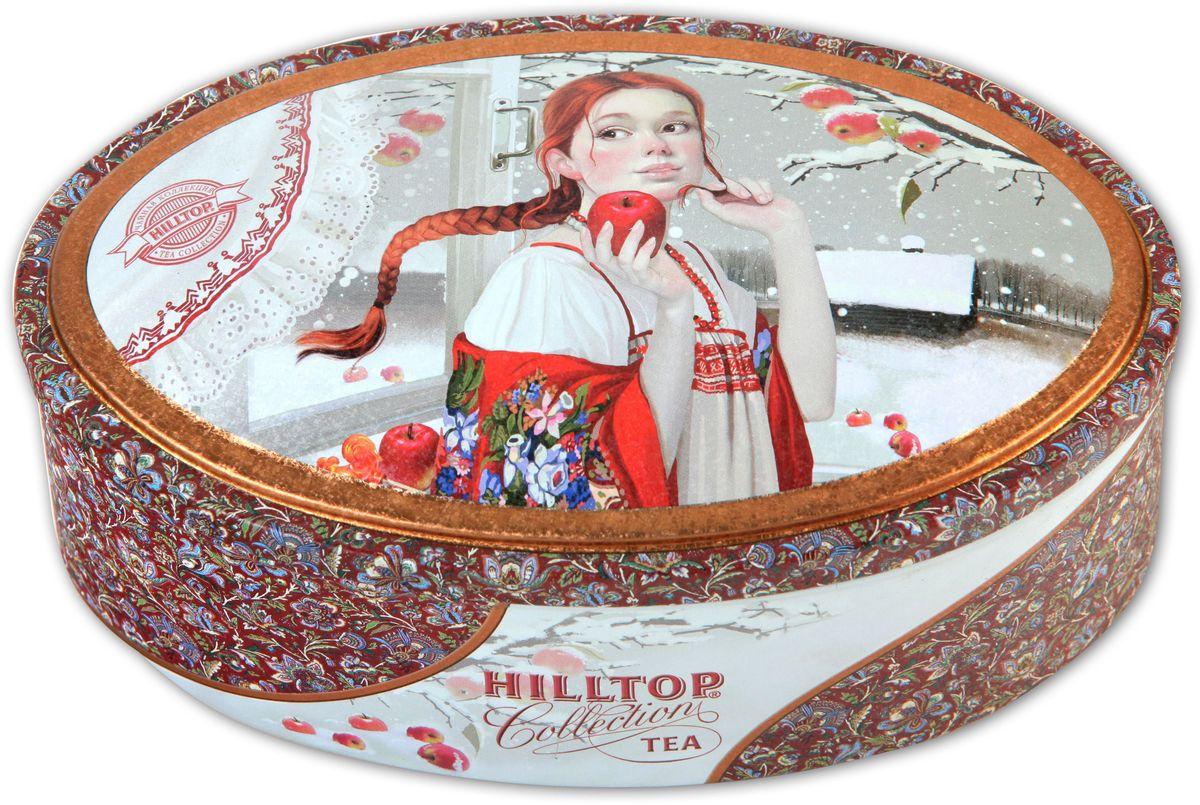 Hilltop Шкатулка Первый снег Королевское золото черный листовой чай, 100 г0120710Чай Королевское Золото – крупнолистовой терпкий чёрный чай стандарта Супер Пеко с лучших плантаций острова Цейлон. Поставляется в красочной подарочной упаковке. Отлично подойдет в качестве подарка на новогодние праздники.