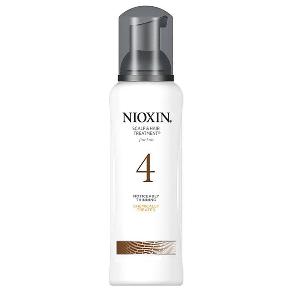 Nioxin Scalp Treatment System 4 - Питательная маска (Система 4) 200 мл4605845001449Питательная маска от Nioxin Система 4 предназначена для редеющих волос, которые поддались химической обработке. Средство глубоко и интенсивно питает волосы и кожу головы, насыщая их полезными веществами. Также маска от Ниоксин защищает волосы от негативного воздействия внешней среды.После применения питательной маски от Nioxin волосы становятся эластичными и шелковистыми, они блестят и выглядят здоровыми и красивыми.