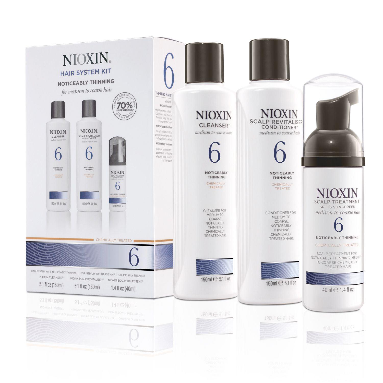 Nioxin System 6 Kit XXL - Набор (Система 6) 300 мл+300 мл+100 млRA-В набор входят:Шампунь Очищение 300 мл - придающий объём очистительКондиционер Увлажнение 300 мл - придающий объём кондиционерМаска Питание 100 мл - придающая объём и питающая волосы маскаВсе средства обеспечивают деликатный уход за волосами и кожей головы, питая их и защищая от неблагоприятных воздействий окружающей среды.