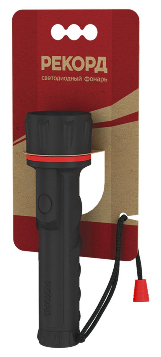 Фонарь Рекорд ММ-0203 (2хR6) (3 светодиода)22694Материал корпуса - резина Источник света - 3 светодиода Straw-Hat Питание - 2хLR6 (АА) Выключатель - кнопочный, боковой, герметичный