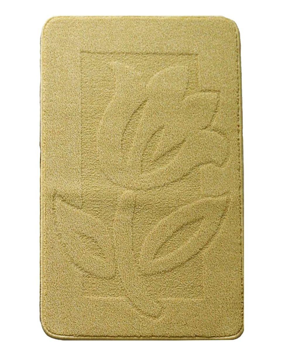 Коврик для ванной Kamalak Tekstil, цвет: желтый, 60 x 100 смУКВ-1012Ковер Kamalak Tekstil изготовлен из прочного синтетического материала heat-set, улучшенного варианта полипропилена (эта нить получается в результате его дополнительной обработки). Полипропилен износостоек, нетоксичен, не впитывает влагу, не провоцирует аллергию. Структура волокна в полипропиленовых коврах гладкая, поэтому грязь не будет въедаться и скапливаться на ворсе. Практичный и износоустойчивый ворс не истирается и не накапливает статическое электричество. Ковер обладает хорошими показателями теплостойкости и шумоизоляции. Оригинальный рисунок позволит гармонично оформить интерьер комнаты, гостиной или прихожей. За счет невысокого ворса ковер легко чистить. При надлежащем уходе синтетический ковер прослужит долго, не утратив ни яркости узора, ни блеска ворса, ни упругости. Самый простой способ избавить изделие от грязи - пропылесосить его с обеих сторон (лицевой и изнаночной). Влажная уборка с применением шампуней и моющих средств не противопоказана. ...