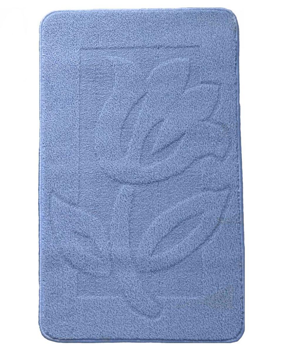 Коврик для ванной Kamalak Tekstil, цвет: голубой, 60 х 100 см. УКВ-101319201Ковры-паласы выполнены из полипропилена. Ковры обладают хорошими показателями теплостойкости и шумоизоляции. Являются гиппоалергенными. За счет невысокого ворса ковры легко чистить. Вам придется по душе широкая гамма цветов и возможность гармонично оформить интерьер. Практичный и устойчивый к износу ворс - от постоянного хождения не истирается, не накапливает статическое электричество. Структура волокна в полипропиленовых моделях гладкая, поэтому грязь не может выесться, на ворсе она скапливается с трудом. Полипропилен не впитывает влагу, отталкивает водянистые пятна. Уход: Самый простой способ избавить изделие от грязи – пропылесосить его с обеих сторон (лицевой и изнаночной).Влажная уборка с применением шампуней и моющих средств не противопоказана. Если шерсти и шёлку универсальные чистящие составы не подходят, то для синтетики они придутся в самый раз.Хранить их нужно рулоном, не складывая «салфеткой».При надлежащем уходе синтетический ковёр прослужит долго, не утратив ни яркости узора, ни блеска ворса, ни его упругости.