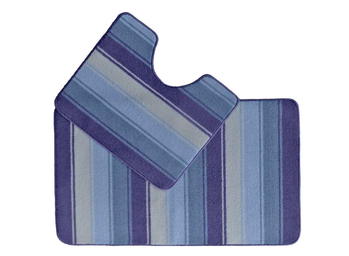 Набор ковриков для ванной комнаты Kamalak Tekstil, цвет: синий, 2 шт. УКВ-1022УКВ-1022Ковры-паласы выполнены из полипропилена. Ковры обладают хорошими показателями теплостойкости и шумоизоляции. Являются гиппоалергенными. За счет невысокого ворса ковры легко чистить. Вам придется по душе широкая гамма цветов и возможность гармонично оформить интерьер. Практичный и устойчивый к износу ворс - от постоянного хождения не истирается, не накапливает статическое электричество. Структура волокна в полипропиленовых моделях гладкая, поэтому грязь не может выесться, на ворсе она скапливается с трудом. Полипропилен не впитывает влагу, отталкивает водянистые пятна. Уход: Самый простой способ избавить изделие от грязи – пропылесосить его с обеих сторон (лицевой и изнаночной). Влажная уборка с применением шампуней и моющих средств не противопоказана. Если шерсти и шёлку универсальные чистящие составы не подходят, то для синтетики они придутся в самый раз. Хранить их нужно рулоном, не складывая «салфеткой». При надлежащем уходе синтетический ковёр прослужит долго, не утратив ни...