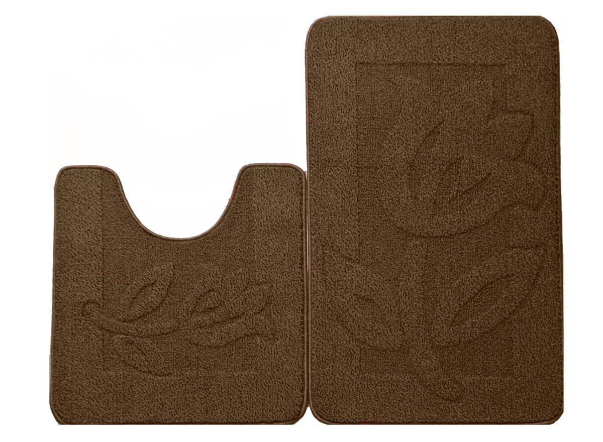 Набор ковриков для ванной комнаты Kamalak Tekstil, цвет: коричневый, 2 шт. УКВ-1027УКВ-1027Ковры-паласы выполнены из полипропилена. Ковры обладают хорошими показателями теплостойкости и шумоизоляции. Являются гиппоалергенными. За счет невысокого ворса ковры легко чистить. Вам придется по душе широкая гамма цветов и возможность гармонично оформить интерьер. Практичный и устойчивый к износу ворс - от постоянного хождения не истирается, не накапливает статическое электричество. Структура волокна в полипропиленовых моделях гладкая, поэтому грязь не может выесться, на ворсе она скапливается с трудом. Полипропилен не впитывает влагу, отталкивает водянистые пятна. Уход: Самый простой способ избавить изделие от грязи – пропылесосить его с обеих сторон (лицевой и изнаночной). Влажная уборка с применением шампуней и моющих средств не противопоказана. Если шерсти и шёлку универсальные чистящие составы не подходят, то для синтетики они придутся в самый раз. Хранить их нужно рулоном, не складывая «салфеткой». При надлежащем уходе синтетический ковёр прослужит долго, не утратив ни...