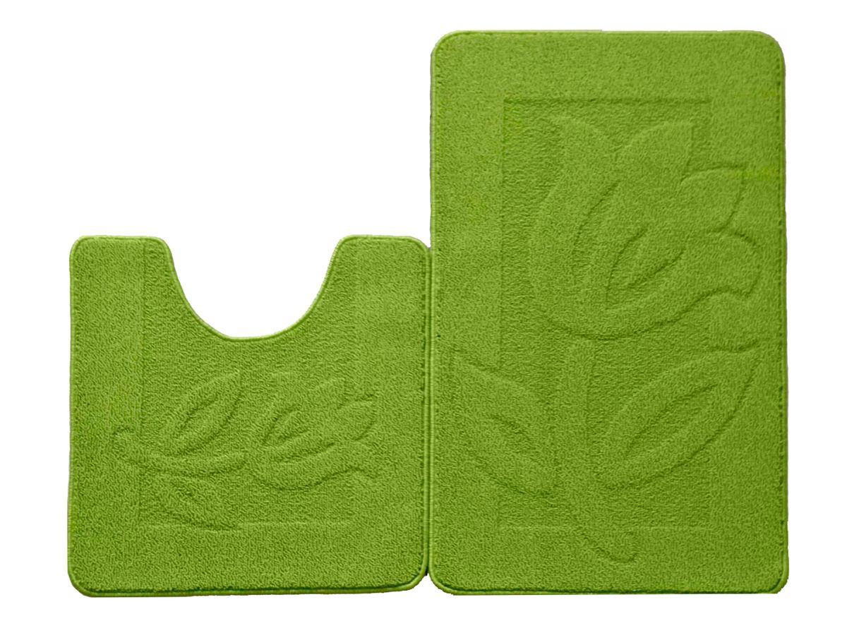 Набор ковриков для ванной комнаты Kamalak Tekstil, цвет: зеленый, 2 шт. УКВ-1028УКВ-1028Ковры-паласы выполнены из полипропилена. Ковры обладают хорошими показателями теплостойкости и шумоизоляции. Являются гиппоалергенными. За счет невысокого ворса ковры легко чистить. Вам придется по душе широкая гамма цветов и возможность гармонично оформить интерьер. Практичный и устойчивый к износу ворс - от постоянного хождения не истирается, не накапливает статическое электричество. Структура волокна в полипропиленовых моделях гладкая, поэтому грязь не может выесться, на ворсе она скапливается с трудом. Полипропилен не впитывает влагу, отталкивает водянистые пятна. Уход: Самый простой способ избавить изделие от грязи – пропылесосить его с обеих сторон (лицевой и изнаночной). Влажная уборка с применением шампуней и моющих средств не противопоказана. Если шерсти и шёлку универсальные чистящие составы не подходят, то для синтетики они придутся в самый раз. Хранить их нужно рулоном, не складывая «салфеткой». При надлежащем уходе синтетический ковёр прослужит долго, не утратив ни...