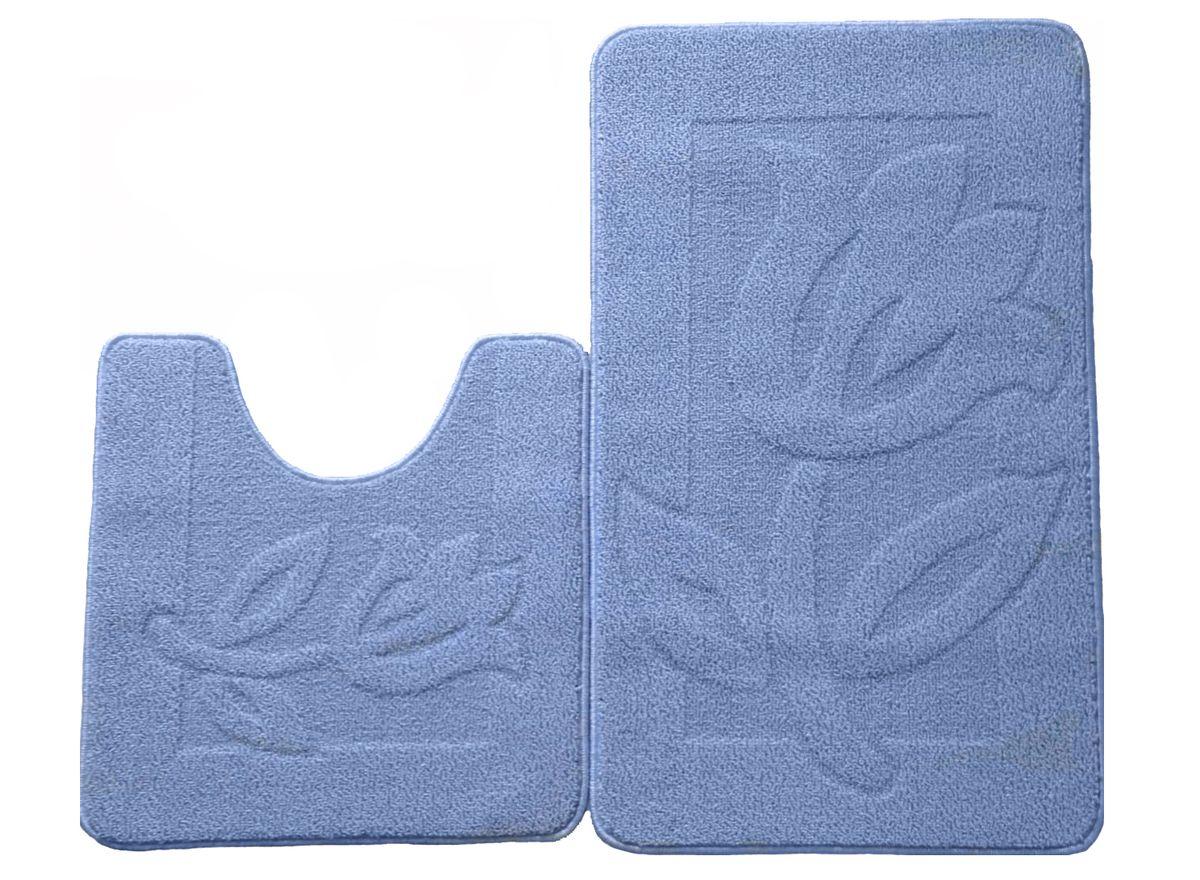 Набор ковриков для ванной комнаты Kamalak Tekstil, цвет: голубой, 2 шт. УКВ-1030УКВ-1030Ковры-паласы выполнены из полипропилена. Ковры обладают хорошими показателями теплостойкости и шумоизоляции. Являются гиппоалергенными. За счет невысокого ворса ковры легко чистить. Вам придется по душе широкая гамма цветов и возможность гармонично оформить интерьер. Практичный и устойчивый к износу ворс - от постоянного хождения не истирается, не накапливает статическое электричество. Структура волокна в полипропиленовых моделях гладкая, поэтому грязь не может выесться, на ворсе она скапливается с трудом. Полипропилен не впитывает влагу, отталкивает водянистые пятна. Уход: Самый простой способ избавить изделие от грязи – пропылесосить его с обеих сторон (лицевой и изнаночной). Влажная уборка с применением шампуней и моющих средств не противопоказана. Если шерсти и шёлку универсальные чистящие составы не подходят, то для синтетики они придутся в самый раз. Хранить их нужно рулоном, не складывая «салфеткой». При надлежащем уходе синтетический ковёр прослужит долго, не утратив ни...