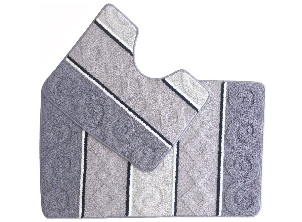 Набор ковриков для ванной комнаты Kamalak Tekstil, цвет: серый, 2 шт. УКВ-1031УКВ-1031Ковры-паласы выполнены из полипропилена. Ковры обладают хорошими показателями теплостойкости и шумоизоляции. Являются гиппоалергенными. За счет невысокого ворса ковры легко чистить. Вам придется по душе широкая гамма цветов и возможность гармонично оформить интерьер. Практичный и устойчивый к износу ворс - от постоянного хождения не истирается, не накапливает статическое электричество. Структура волокна в полипропиленовых моделях гладкая, поэтому грязь не может выесться, на ворсе она скапливается с трудом. Полипропилен не впитывает влагу, отталкивает водянистые пятна. Уход: Самый простой способ избавить изделие от грязи – пропылесосить его с обеих сторон (лицевой и изнаночной). Влажная уборка с применением шампуней и моющих средств не противопоказана. Если шерсти и шёлку универсальные чистящие составы не подходят, то для синтетики они придутся в самый раз. Хранить их нужно рулоном, не складывая «салфеткой». При надлежащем уходе синтетический ковёр прослужит долго, не утратив ни...
