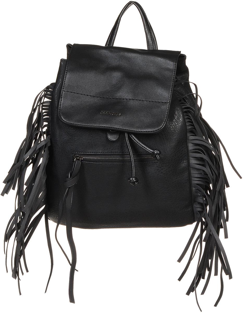 Рюкзак женский David Jones, цвет: черный. 5238-2 5238-2 BLACK
